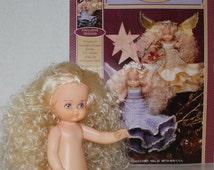 Fibre Craft 'Ariel' Doll Clothes Crochet Pattern Booklet FCM475 & Ariel Air Freshener Doll Set, Home Decor Angel Fairy Crochet Dress Pattern
