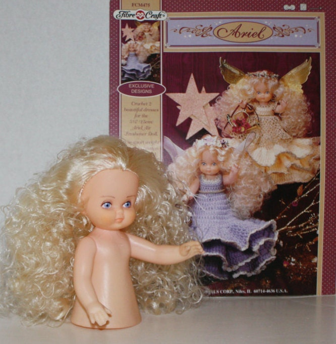 Fibre craft 39 ariel 39 doll clothes crochet pattern for Fibre craft 18 inch doll