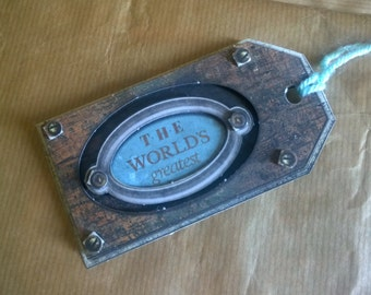 Father's Day Decoupage Gift Tag Label