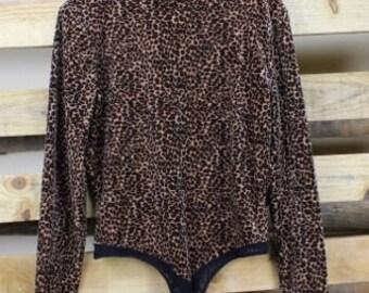 Vintage Cache Velvet Leopard Bodysuit