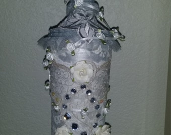 Victorian decorated bottle