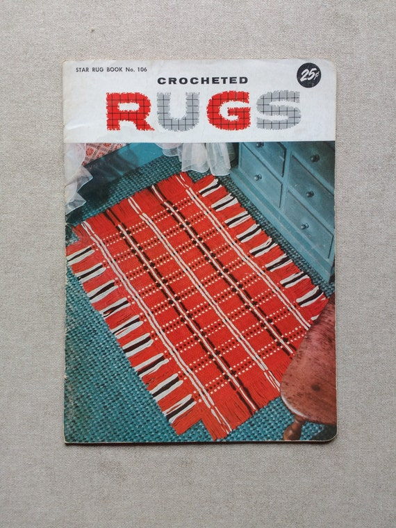 Crocheting Rugs Book : Star Rug Book No 106 Crocheted Rugs Pattern Book / 16 Patterns ...