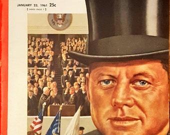 Newsweek January 23, 1961 JFK's Inauguration edition