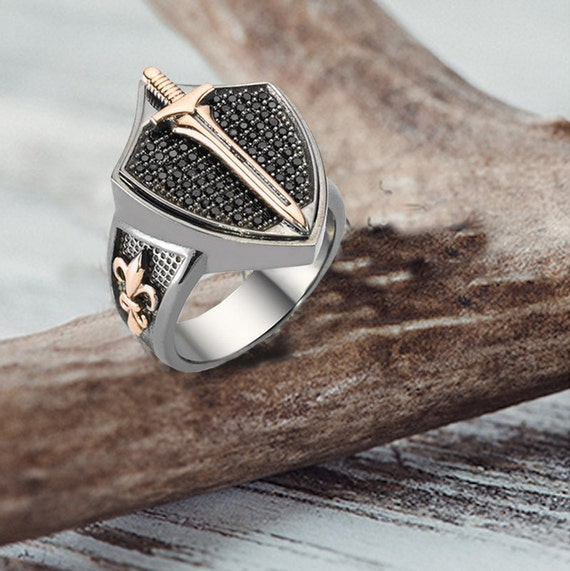 handmade mens rings unique sterling silver ring by