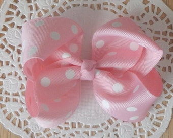 Pink Boutique Bow, Big Pink Boutique Bow, Girls Bow, Baby Bow, Hair Accessories