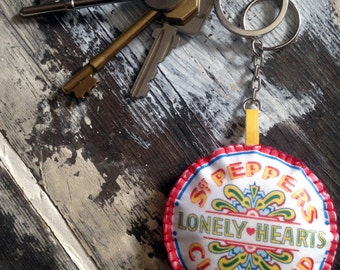 Sgt Pepper Drum Keyring Beatles Lonely Hearts Club Band Drum