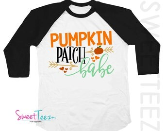Pumpkin Patch Shirt Raglan Thanksgiving Shirt Pumpkin Patch Raglan Shirt Boy Girl Pumpkin Patch Babe