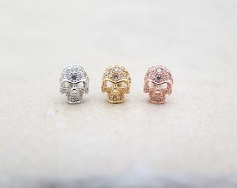 CZ Stud Piercing/Tragus Earring/Cartilage earring/Skull ear piercing/Tragus Piercing/CZ piercing/Labret bar optional/Helix Earring/ conch