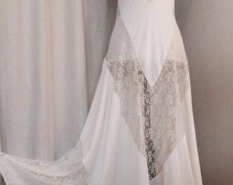 Vintage Lace Slip Dress, Nightgown