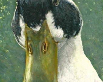 """Duck Art, Duck Painting, """"Gorgeous Goldie"""""""