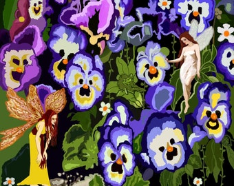 Listening to the Singing Blue Pansies in the Forest of Tra-Lee