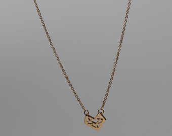 Geometric fox necklace