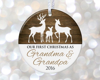 New Grandparents To Be Gift for Grandma To Be Gift for New Grandma Christmas Gift for Grandparents Christmas Ornaments for Grandparents