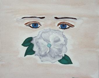 "Giclee Print Fine Art Paper Surreal Prit Metaphysical Print ""Fragrant Truth"""