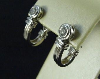 Estate 14k White Gold / Diamond Earrings (pierced) (b3)