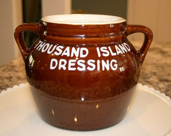 Hall #785 Restaurant Salad Dressing Crock//Bean Pot//Vintage Hall Crock