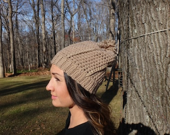 Women's slouchy ribbed beanie