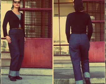 40s High Waist Denim Jeans