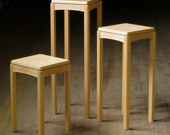 Birdseye maple tables