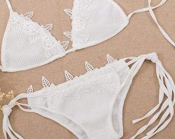 Bikini /Swimwear/white  bikini