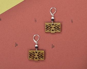 Wood WOODEARZ Symbol earrings