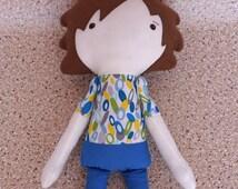 Boy Doll, boy rag doll, boy fabric doll, boy soft doll, boy gift, doll, toy, boy stuffed doll, boy plush doll, stuffed toy,boy handmade doll