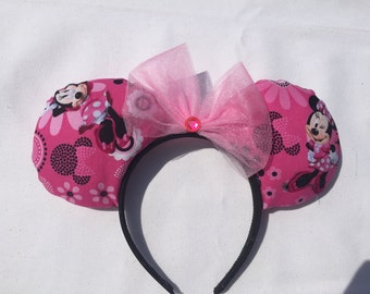 Minnie Stylish Ears, Hot Pink Minnie Mouse Ears | Minnie Ears | Disney Ears | Mickey Ears | Disney World Ears | Disneyland Ears