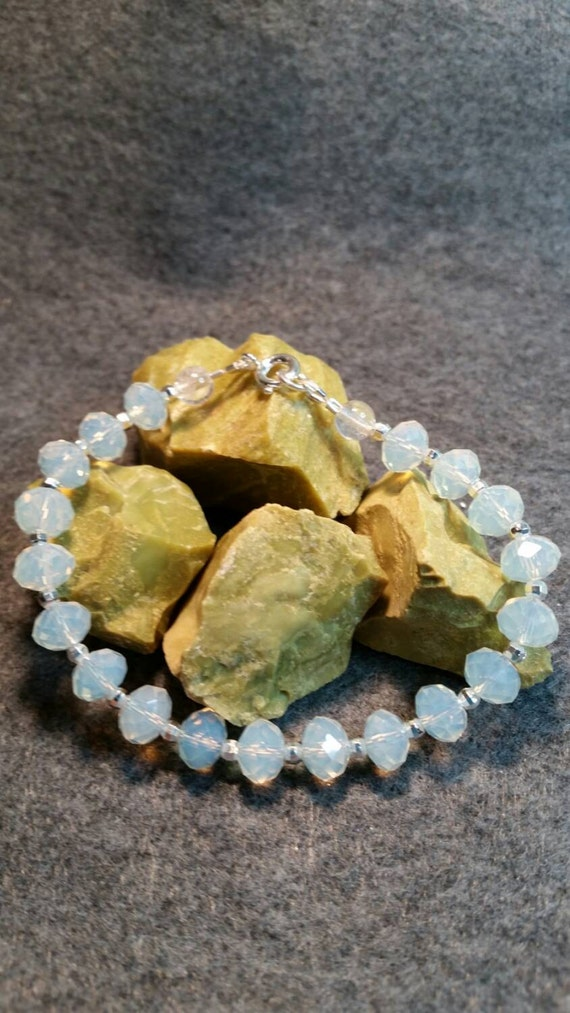 Moonstone and Silverplate Beads