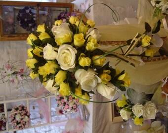 Silk Wedding  Rose Bouquet