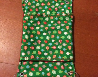 Christmas Rat Hammock w/ Double Ended Pocket