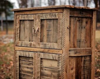 Rustic Armoire  Wardrobe Cabinet