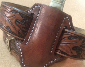 how to make a pocket knife sheath
