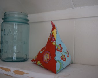 Pincushion, Paper Weight, Fabric Chicken