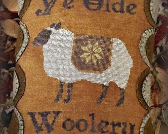 Ye Olde Woolery Primitive Cross Stitch Chart PDF EPattern