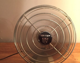 gray metal fan Torcan vintage industrial decoration