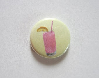 Pink Lemonade pinback button badge
