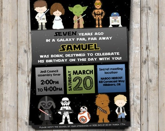 Star Wars birthday invitation personalized for your party - digital / printable DIY Star Wars invitation