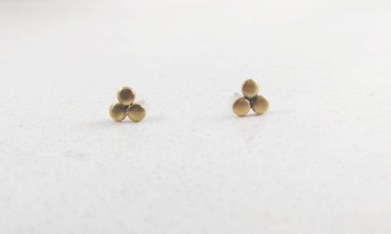 three dot earrings