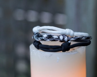 Paracord Bracelets | Monochrome | Three Pack
