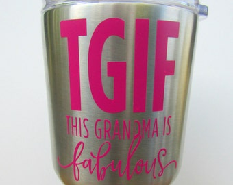 This Grandma Is Fabulous! Gift For Grandma DIY Yeti, Car Decal Sticker, Thermos, Water Bottle, Personalized Gift Granny Grammy Shirt Iron On