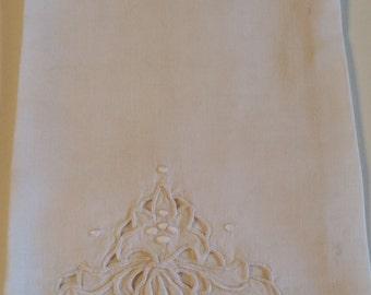 Vintage Linen Guest Hand Towel