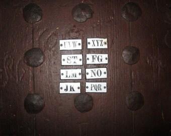 8 littles letters  plaque