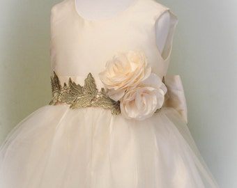 Flower girl dress, wedding dress,couture infant dress, girl dress, special occasion dress,bridesmaid