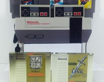 Vintage Nintendo Entertainment System NES Super Mario Trilogy and Zelda Refurbished, Cleaned, Tested