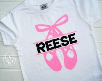 Ballet Tshirt, Ballet Shirt, Ballet T-shirt, Ballet Tee, Dance Tshirt, Dance Shirt, Dance T-shirt, Dance, Ballet Slippers, Personalized