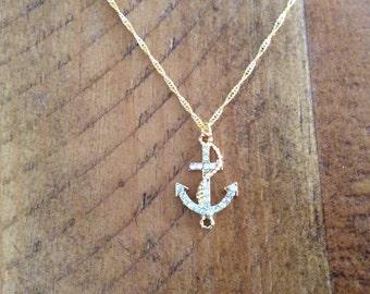 Nautical anchor necklace