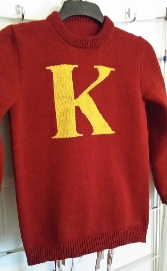 Handmade knitted initial jumper