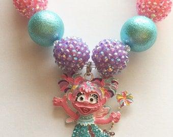 Abby Cadabby Girl's Chunky Bubblegum Bead Necklace