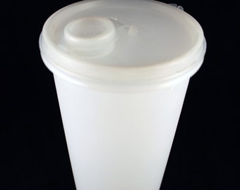 Vintage Tupperware Opaque Beverage Container with Flip Top Lid