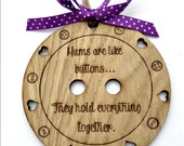 Wooden Sign - Mothers Day Gift - Gift for Mother - Button Sign - Cute As A Button - Mothers Quote - Birthday Gift - Wood Button Wall Hanging